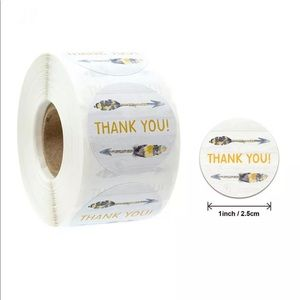 THANK YOU packaging stickers seller supplies 100